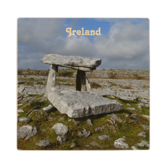 Poulnabrone Tomb Wood Coaster