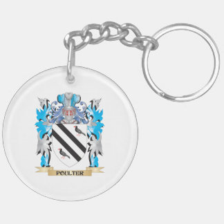 Poulter Coat of Arms - Family Crest Acrylic Keychain
