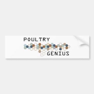 Poultry Genius Bumper Stickers