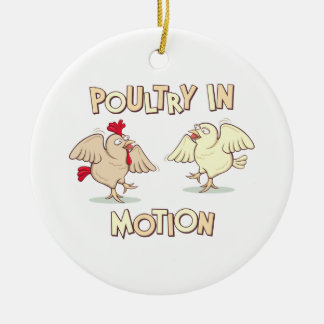 Poultry in Motion Christmas Ornament