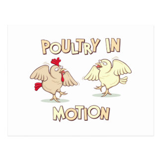 Poultry in Motion Postcards