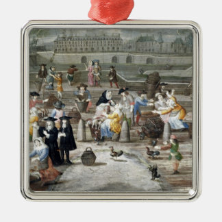 Poultry Market on Quai des Grands Augustins Christmas Ornament