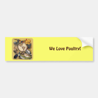 Poultry of the World Bumper Stickers