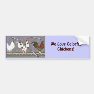 Poultry Painter Bumper Sticker