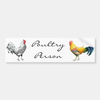 Poultry Person Bumper Sticker