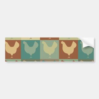 Poultry Pop Art Bumper Stickers