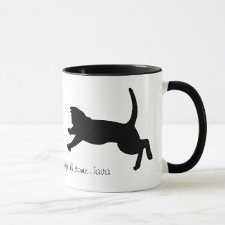 pouncing cat shadow coffee mug
