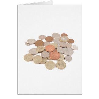 Pound coin card
