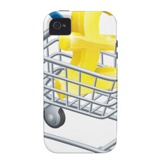 Pound currency shopping cart Case-Mate iPhone 4 cases