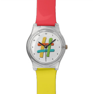 Pound Key Funny Colorful Pound Sign Tic Tac Toe Watch