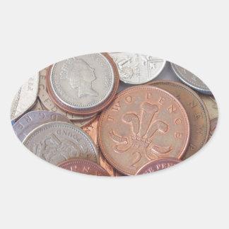 Pound Oval Sticker