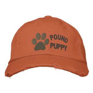 Pound Puppy Embroidered Baseball Caps