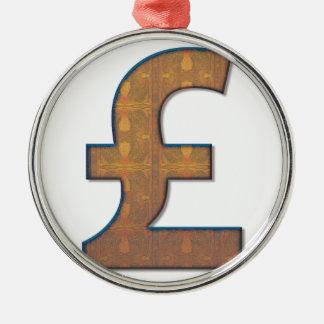Pound sign christmas ornament
