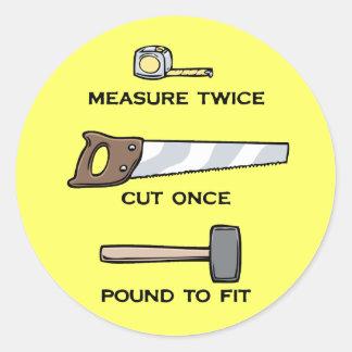 Pound To Fit Classic Round Sticker