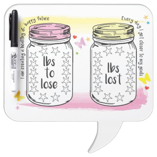 pounds lost motivational diet weight loss tracker dry erase board
