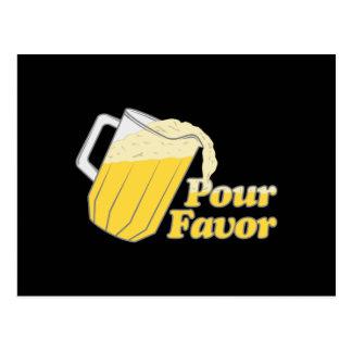 Pour Favour Beer Pitcher Postcard