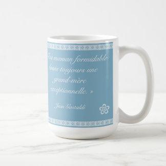 Pour le meilleure grand-mère basic white mug