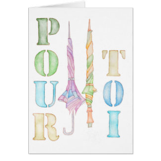 Pour Toi watercolour greeting card