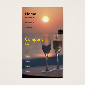 Pouring at Sunset Business Card