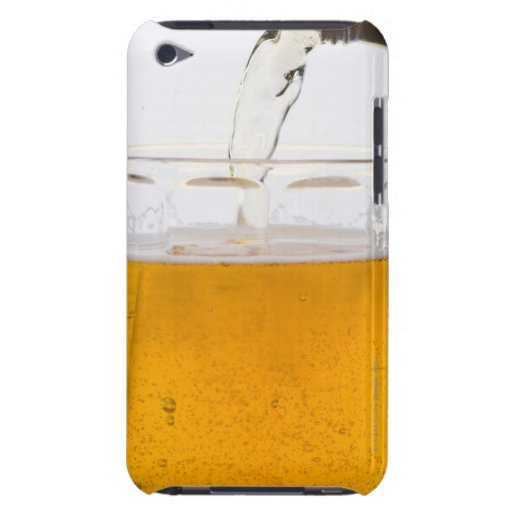 Pouring beer in glass mug, Extreme, Close-up Barely There iPod Case