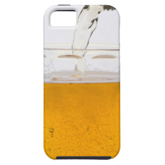 Pouring beer in glass mug, Extreme, Close-up iPhone 5 Case