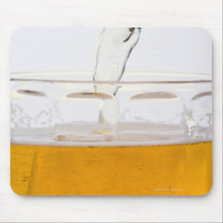 Pouring beer in glass mug, Extreme, Close-up Mouse Pad