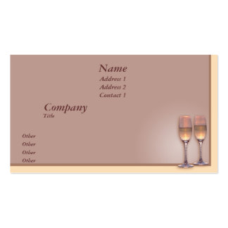 Pouring Champagne Business Cards