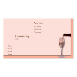 Pouring Champagne Business Card