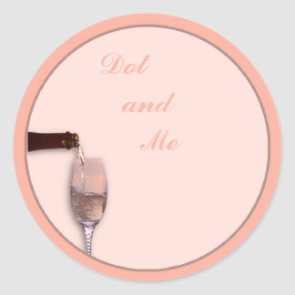 Pouring Champagne Classic Round Sticker