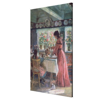 Pouring the Morning Coffee, 1906 Canvas Print