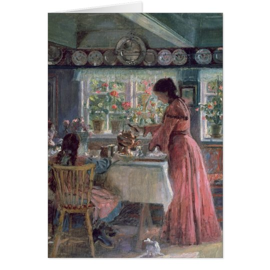 Pouring the Morning Coffee, 1906 Card