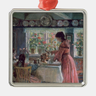 Pouring the Morning Coffee, 1906 Christmas Ornament
