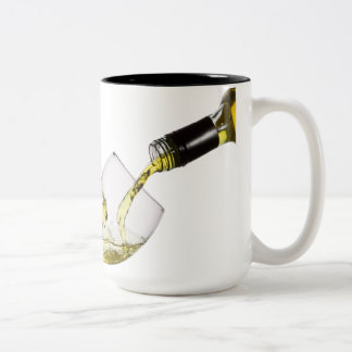 Pouring White Wine Custom Template Coffee Mug