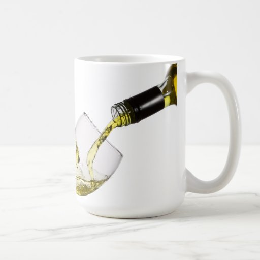 Pouring White Wine Custom Template Coffee Mug