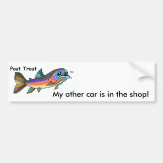 Pout Trout Bumper Sticker