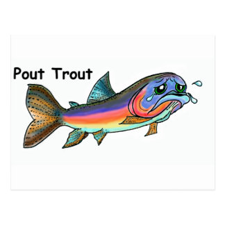 Pout Trout Postcard