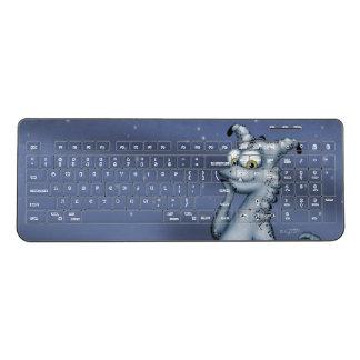 POUTCHY ALIEN CUTE CARTOON Custom WirelessKeyboard Wireless Keyboard