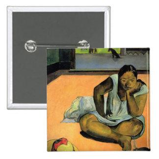 Pouting or Silence - Paul Gauguin Pinback Button