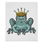 pouty prince frog poster