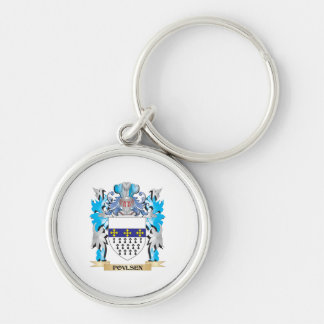 Povlsen Coat of Arms - Family Crest Keychain