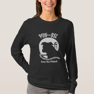 POW BSL Save the Pitbull Dog from Discrimination T-Shirt