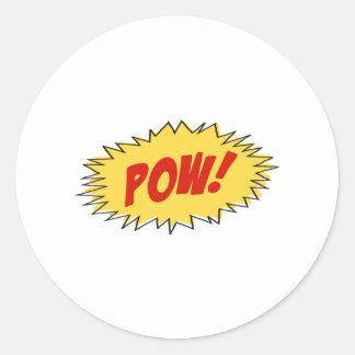 Pow Cartoon Classic Round Sticker