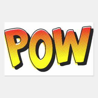 POW Comic Book Sound Effect Rectangular Sticker