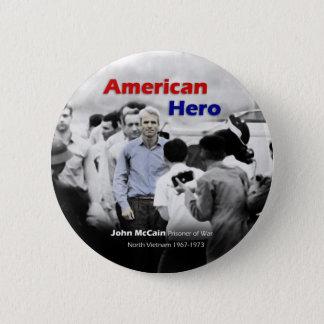 POW John McCain American Hero 6 Cm Round Badge