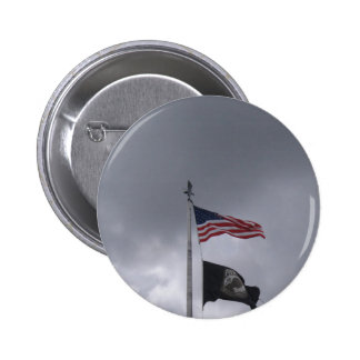 POW MIA American Flag Button