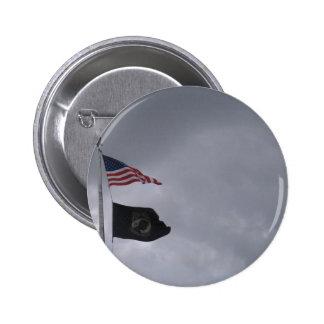 POW MIA American Flags 2 Pinback Button