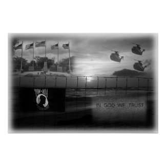 POW MIA Commemorative Poster