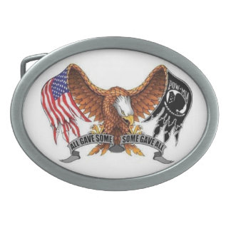 POW-MIA EAGLE BELT BUCKLE