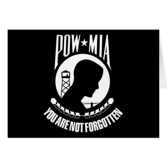 POW-MIA Flag Card