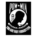 POW-MIA Flag Postcard